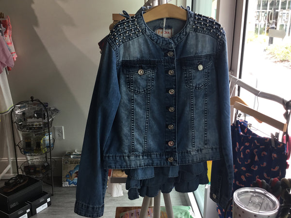 In City Woven Girls Jean Coat