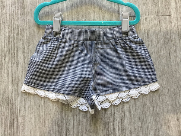 Black Gingham Shorts