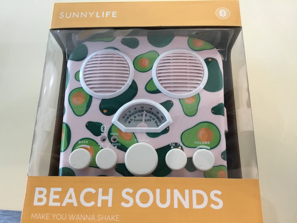 Beach Sounds Mini Boom Box - Avocado