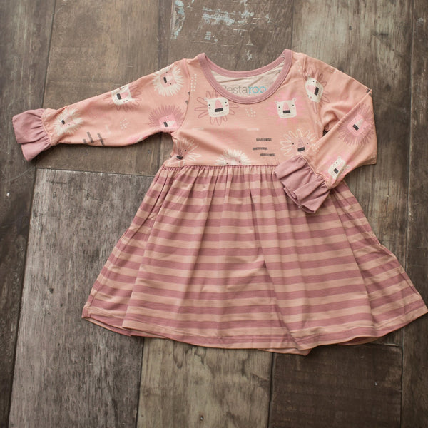 Bestaroo Pink Lion Toddler Dress