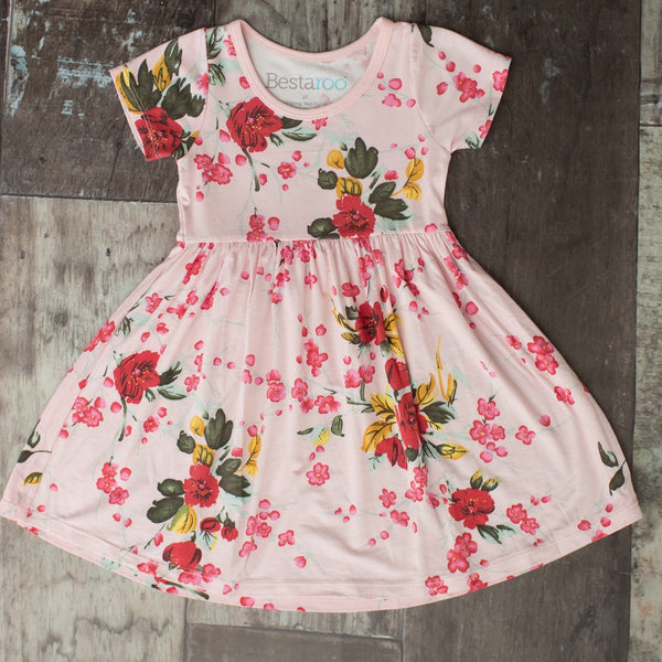 Bestaroo Cherry Blossom Toddler Dress