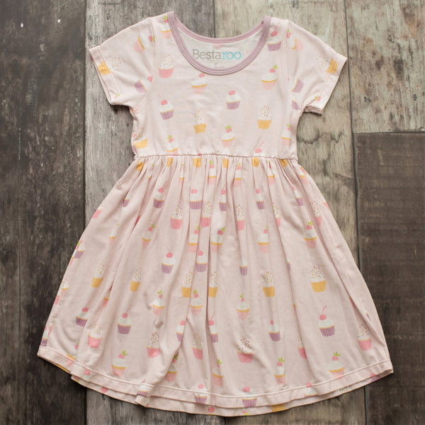 Bestaroo Pink Cupcake Toddler Dress