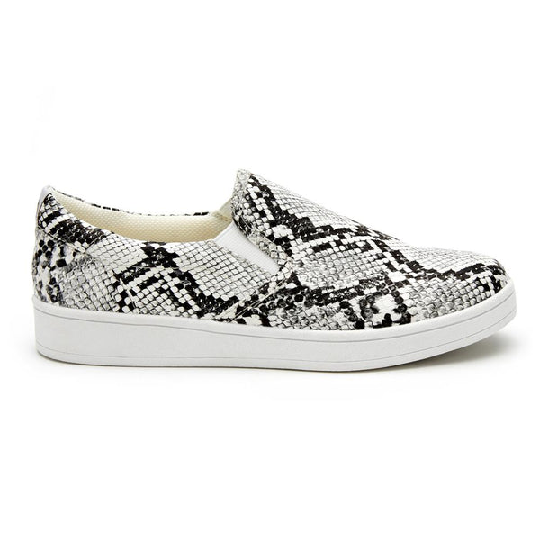 Lil Gradient White Snake Slip On Sneaker- Kids