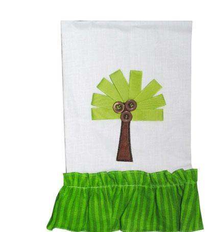 Palm Tree Bath or Kitchen Towel- Home Goods- Monogram - Bubbles Gift Shoppe