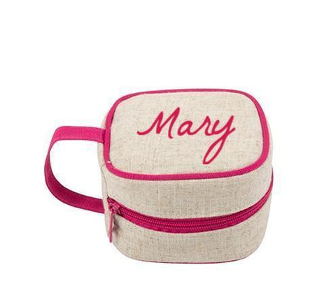Canvas Jewelry Cube Bag- 4 colors- Monogram- New Arrival