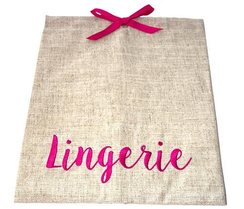 Lingerie Linen Bag - Bubbles Gift Shoppe