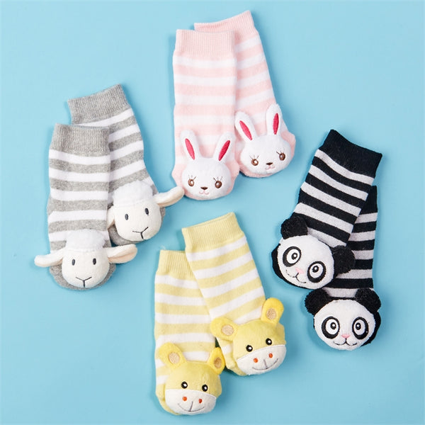 Adorable Rattle Socks Asst 4 Designs - Kids & Baby