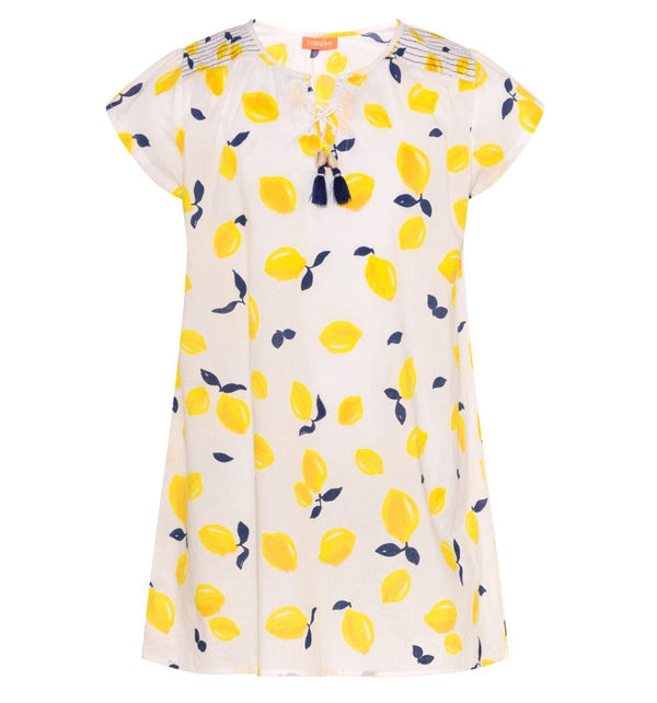 Lemon Kaftan Dress