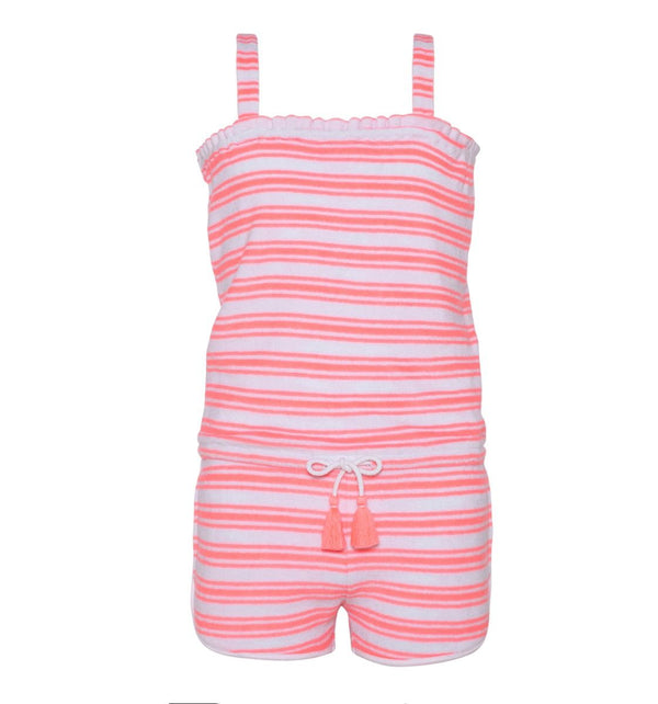 Pink Towelling Playsuit