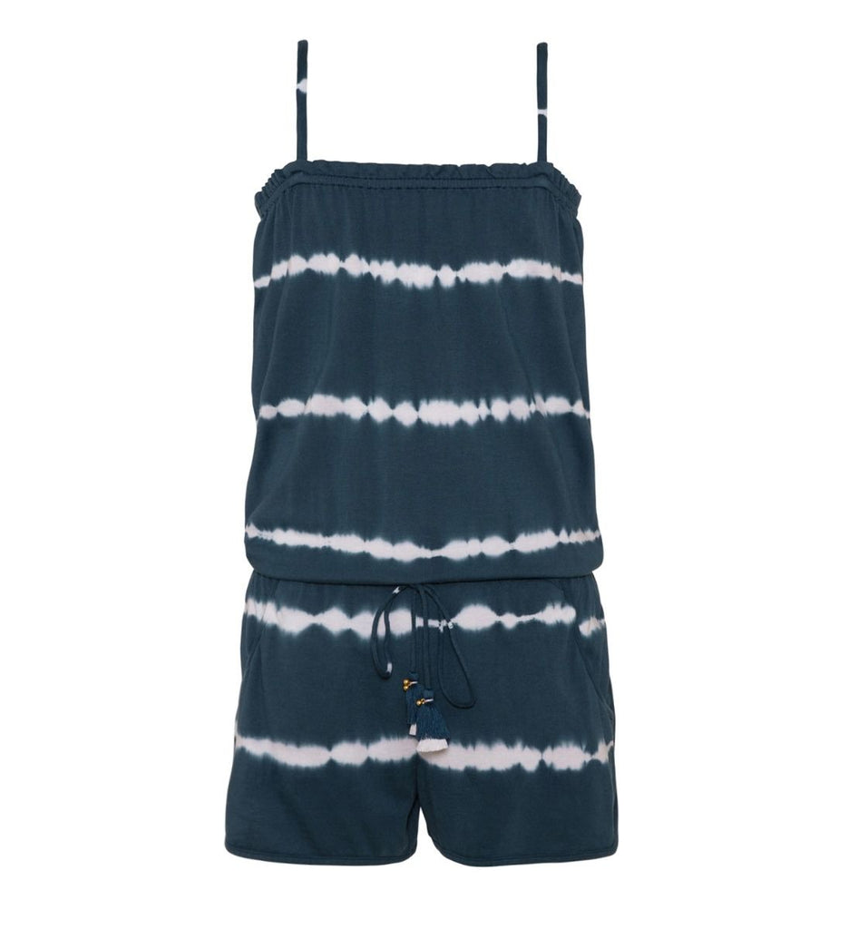 Blue Tie Dye Playsuit