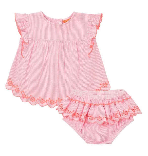 Baby Girls Frill Romper Set - 2 Styles