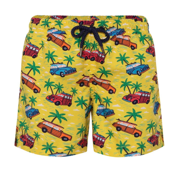 Boys Yellow Road Trip Swim Short