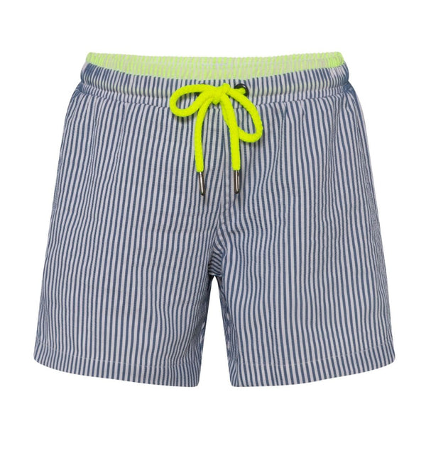 Boys Blue Seersucker Swim Short