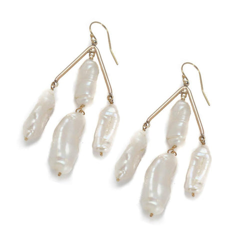 SUTTON FRESHWATER PEARL EARRING IN TWO COLORS - Bubbles Gift Shoppe