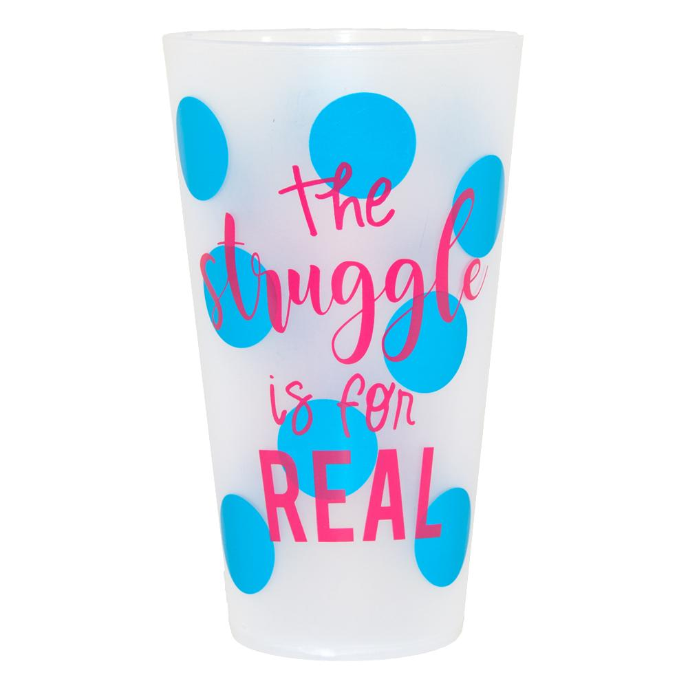 Struggle is For Real Set of 6 Cups - Home Goods - Bubbles Gift Shoppe