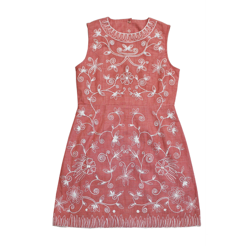Vera Embroidered Dress- Tween and Kids
