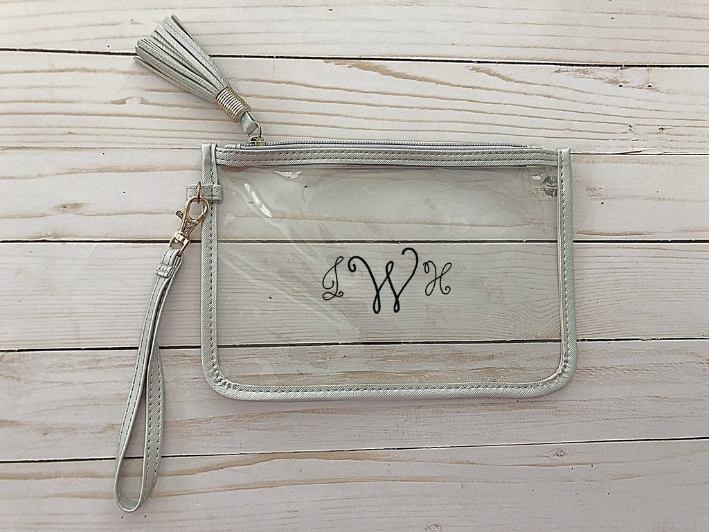 Gameday Clear Clutch Bag with Strap-Monogram