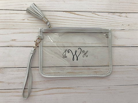 Gameday Clear Clutch Bag with Strap- New Arrivals- Monogram