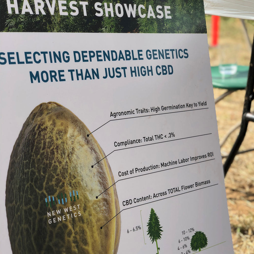 Abound Hemp CBD Seed Sign at the Harvest Showcase