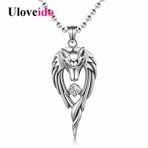 Stainless Steel Anime Wolf Necklace