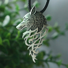 Viking Celtic Wolf Men's Necklace
