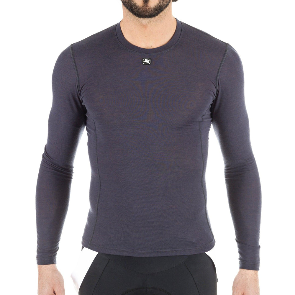 Men's Long Sleeve Merino Wool Blend Base Layer - Giordana Cycling