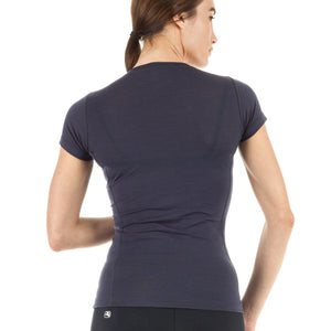 Wool Blend Base Layer - Women's Short Sleeve – Grey - Giordana Cycling
