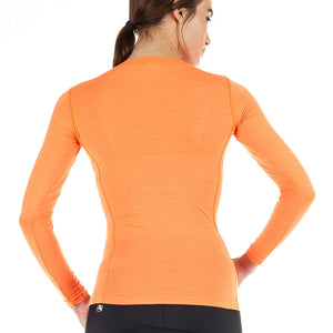 Women's Long Sleeve Merino Wool Blend Base Layer - Giordana Cycling