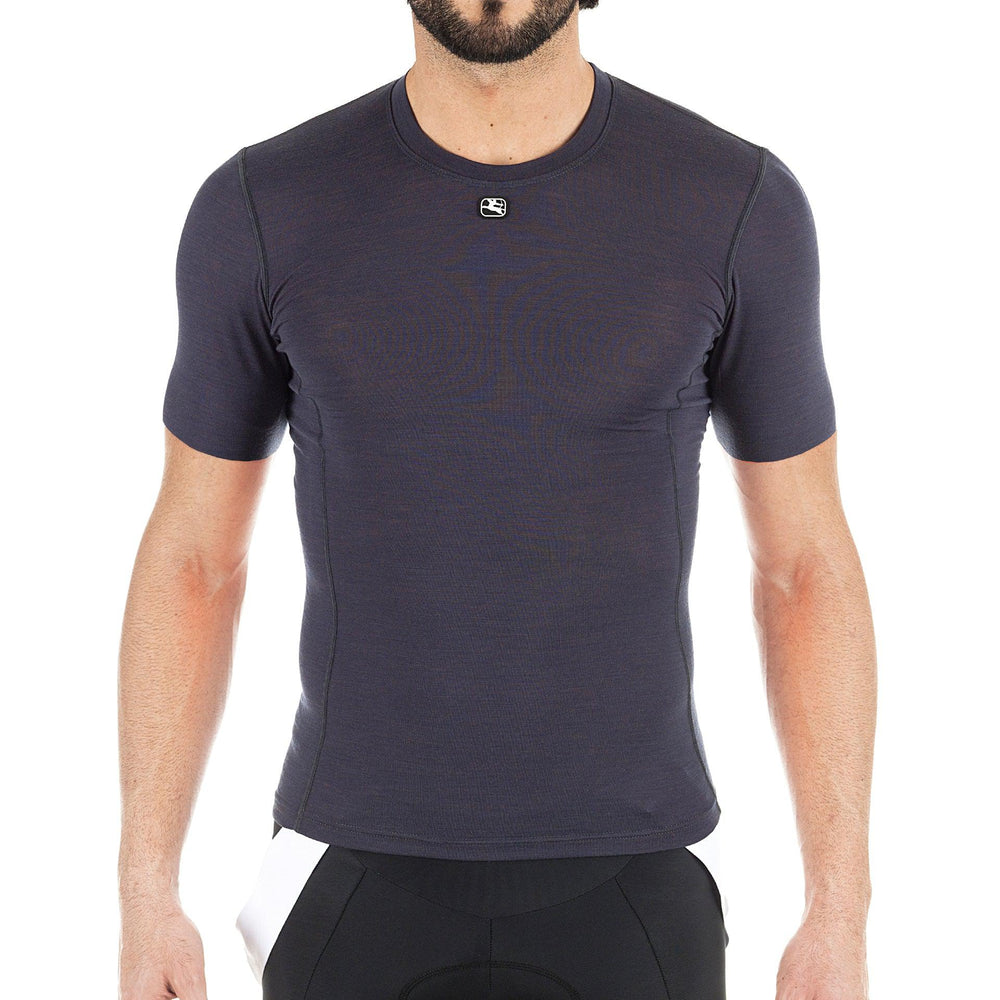 Men's Short Sleeve Merino Wool Blend Base Layer - Giordana Cycling