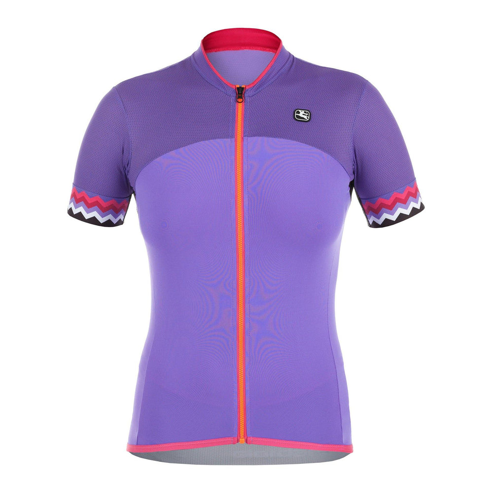 Load image into Gallery viewer, Lungo Short Sleeve Women's Jersey Zig Zag - Giordana Cycling