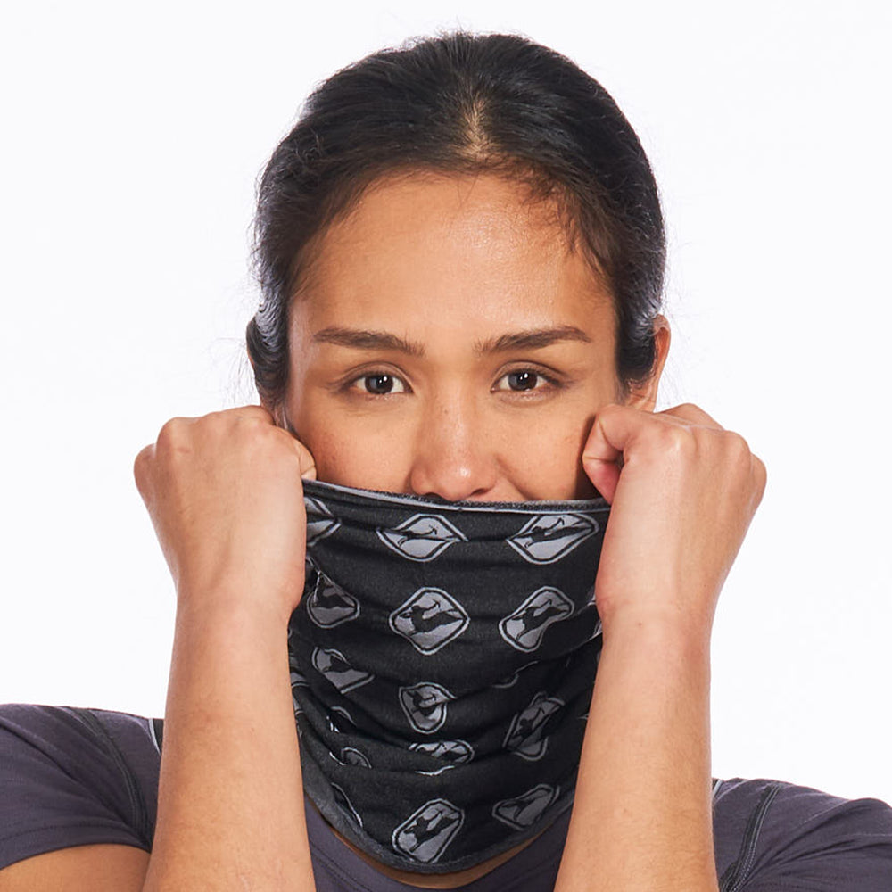 Neck Gaiter in Knitted PolyPro - Grey/Black