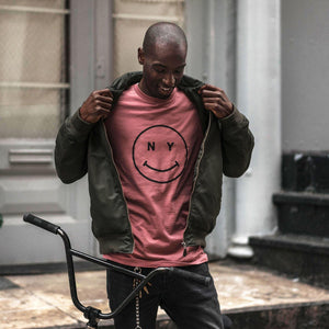 Giordana x Knowlita New York Smiley T-Shirt Pink - Giordana Cycling
