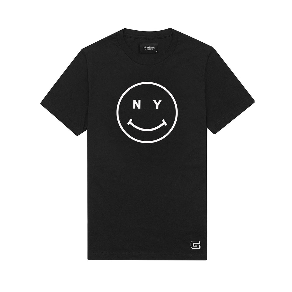 Giordana x Knowlita New York Smiley T-Shirt Black - Giordana Cycling