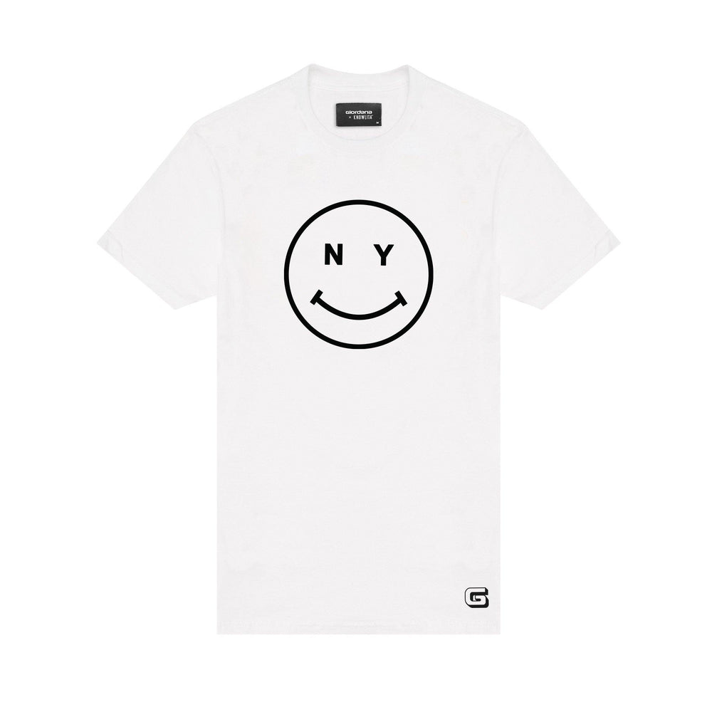 Giordana x Knowlita New York Smiley T-Shirt White