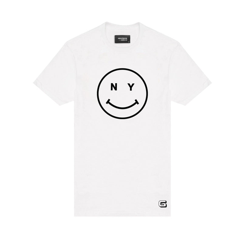 Giordana x Knowlita New York Smiley T-Shirt White - Giordana Cycling
