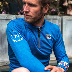 Load image into Gallery viewer, Giordana x Knowlita New York Smiley Wool Long Sleeve Jersey - Giordana Cycling