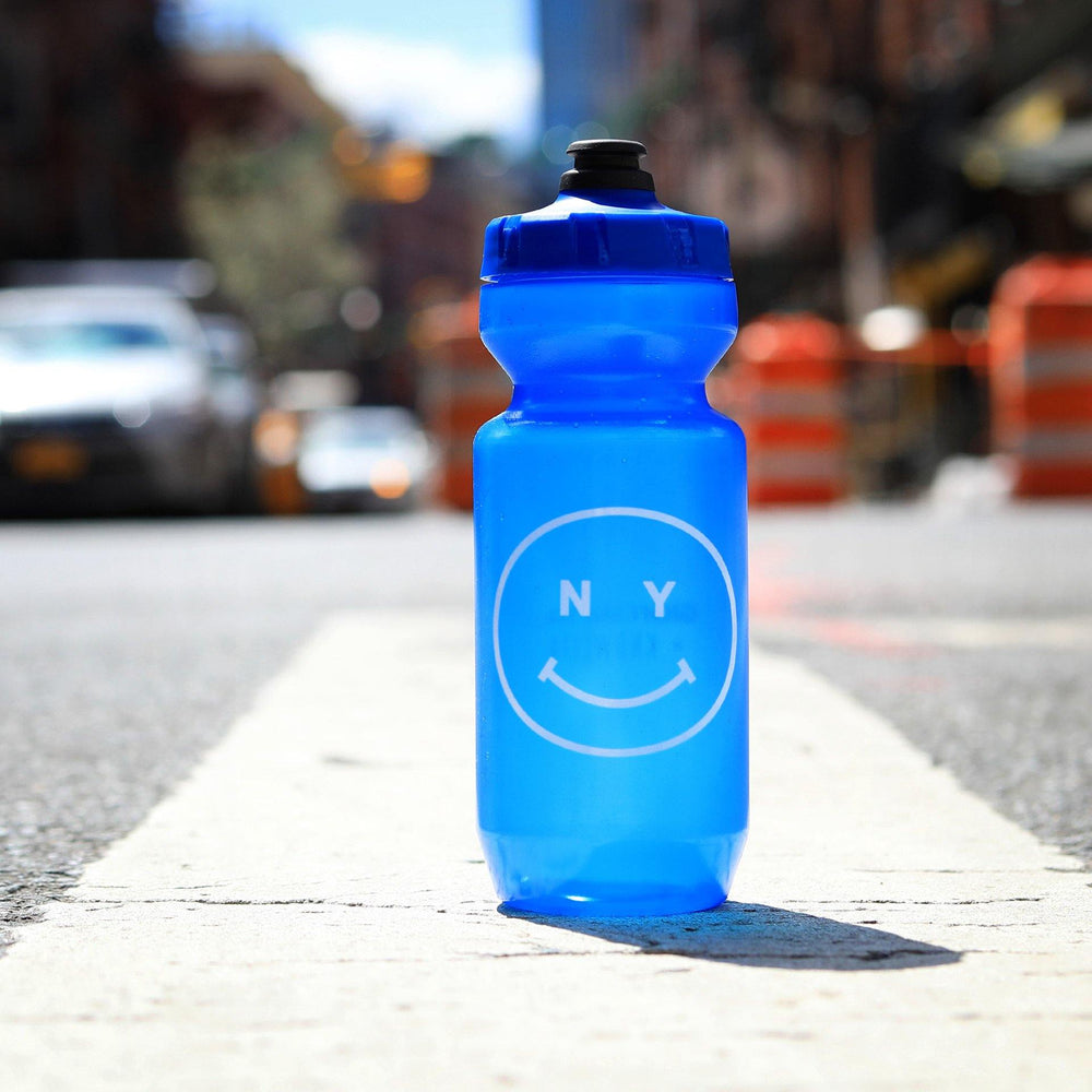 Giordana x Knowlita New York Smiley Blue Water Bottle - Giordana Cycling