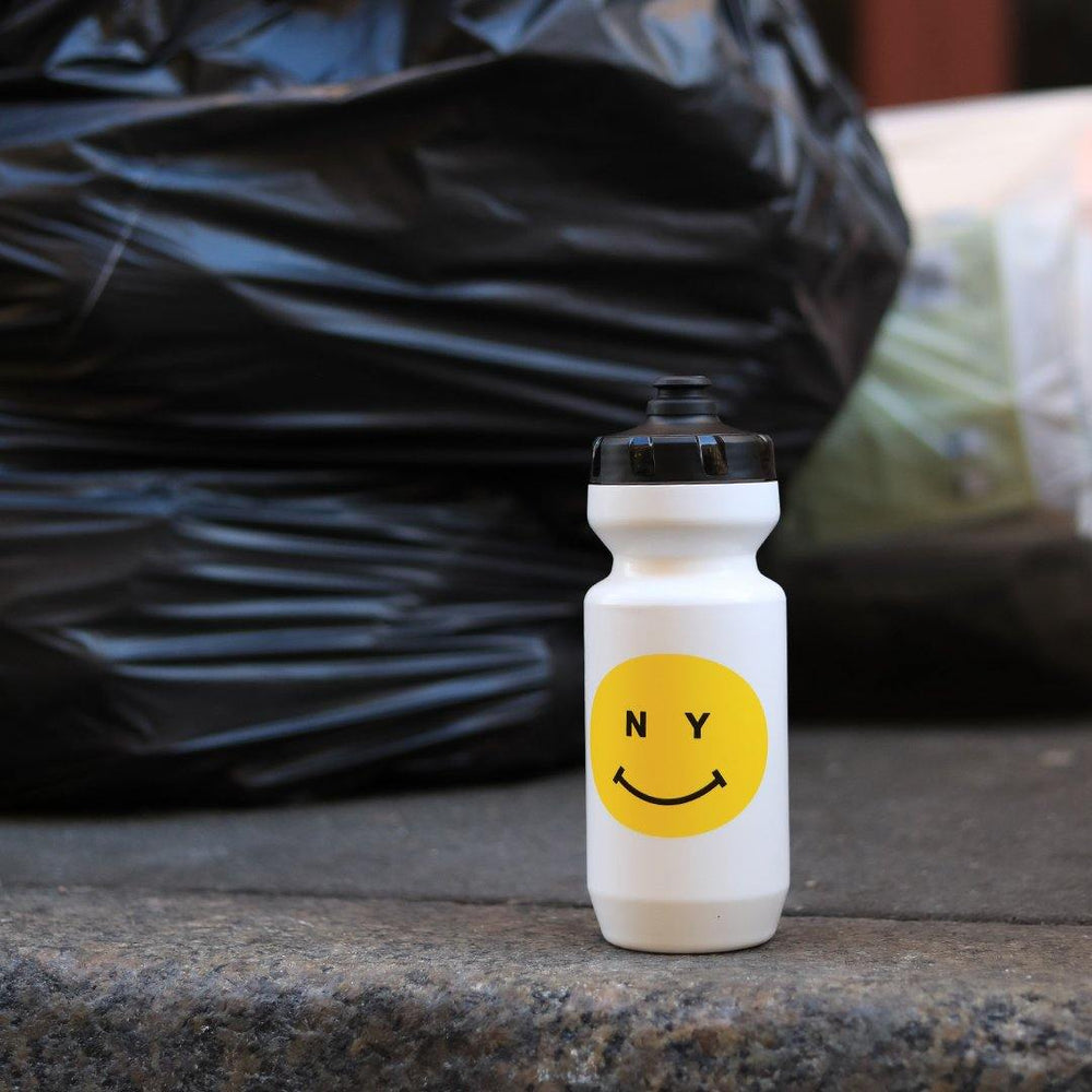 Giordana x Knowlita New York Smiley White/Yellow Water Bottle - Giordana Cycling