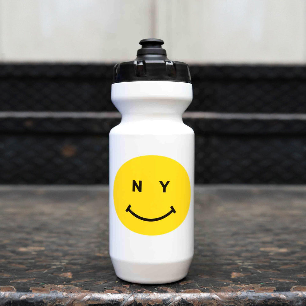 Giordana x Knowlita New York Smiley White/Yellow Water Bottle