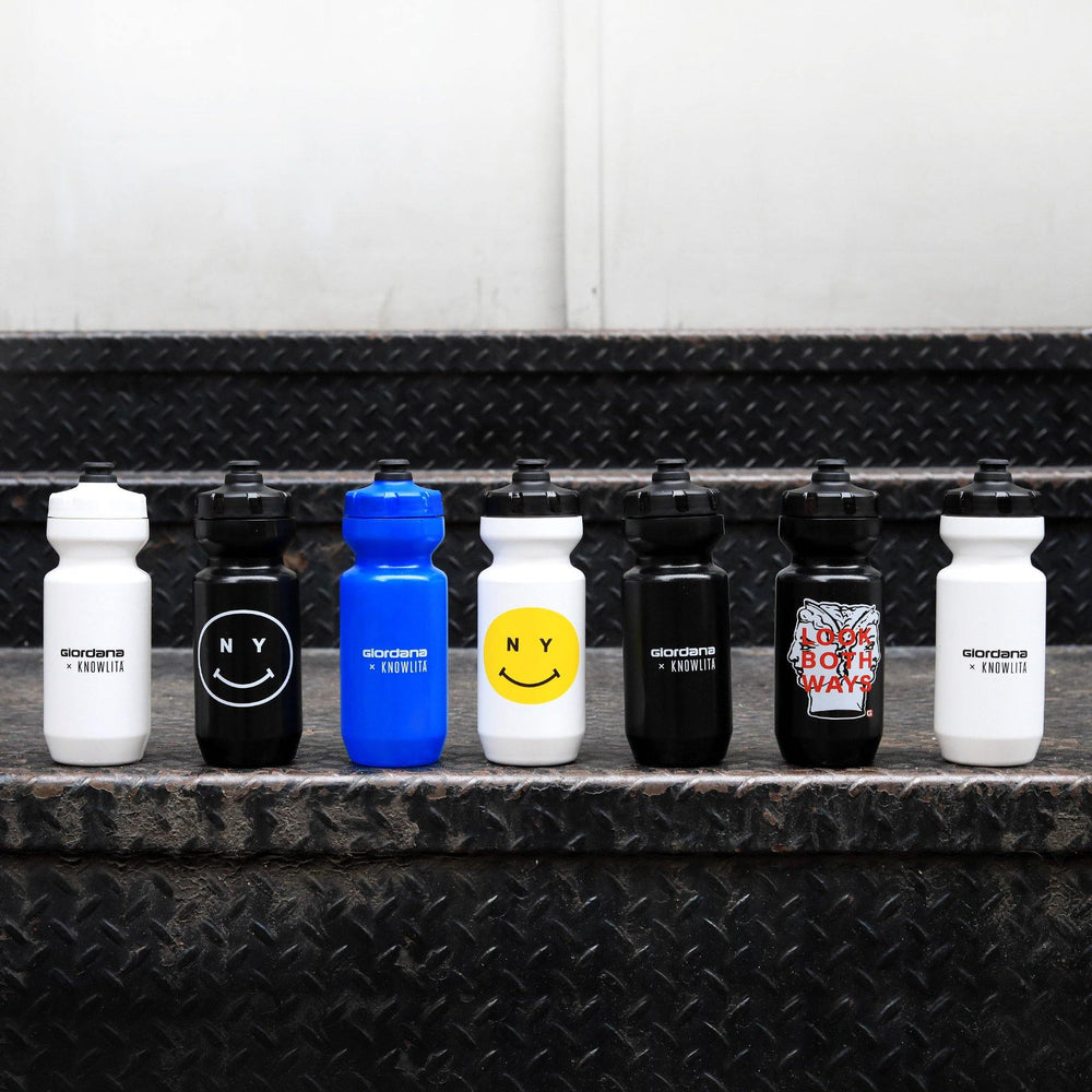 Giordana x Knowlita New York Smiley Black Water Bottle - Giordana Cycling