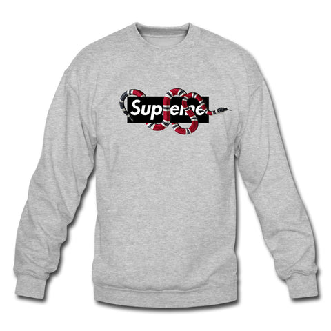 Supreme Crewneck Sweatshirt Gray