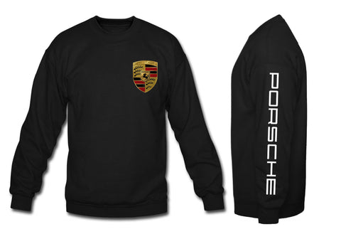 Porsche Crewneck Sweatshirt with sleeve porsche black