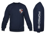 Porsche Crewneck Sweatshirt with sleeve navy