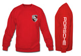 Porsche Crewneck Sweatshirt with sleeve red