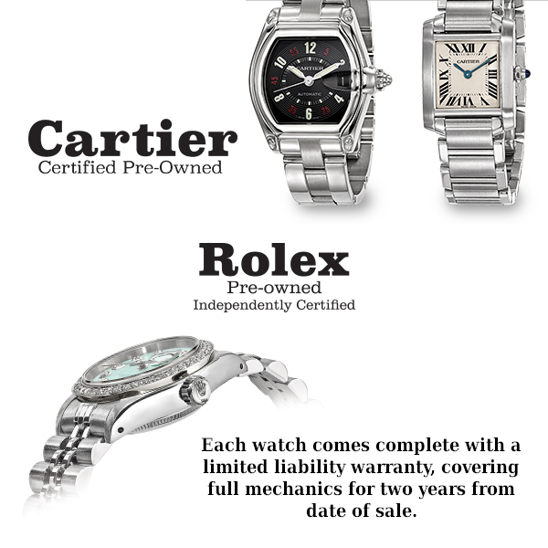 Certified Pre-Owned High Quality Watches