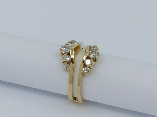 14kt Yellow Gold Diamond Ring Jacket