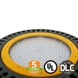 150W UFO LED High Bay Garage Gas Station Light, 5700K, Optical Lens, Hook Mount UL/DLC - Green Solar LED