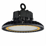 150W LED High Bay Light Parking Garage Gas Station Light, UFO Shaped, Hook Mount, 5 Year Warranty DLC - Green Solar LED