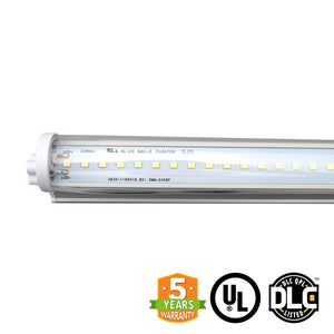 22W 4ft LED Integrated Tube, 6000K, (UL+DLC), 5 Year Warranty, (Pack of 10) - Green Solar LED
