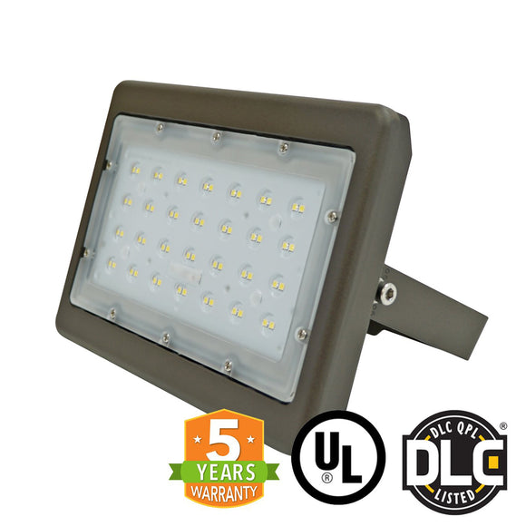 50W Outdoor LED Flood Light (UL/DLC) 5700K, 5 Year Warranty (Pack of 2) - Green Solar LED